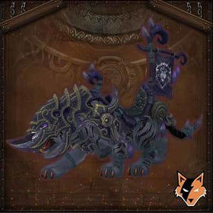 Vicious Black Warsaber mount in World of Warcraft EU (WoW)