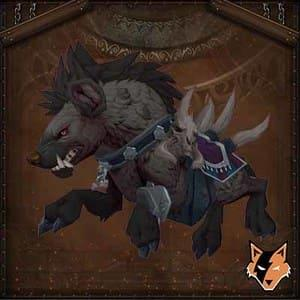 Reins of the Onyx War Hyena mount in World of Warcraft US (WoW)